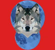 Low Poly Moon + Wolf Unisex T-Shirt