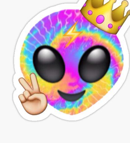 RAINBOW ALIEN EMOJI Sticker