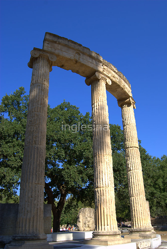 Ruins of the Philippeion, Olympia, Greece by inglesina