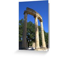 Ruins of the Philippeion, Olympia, Greece Greeting Card