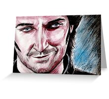 Richard Armitage, the good side of Guy Greeting Card