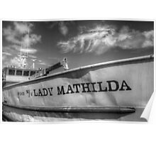 """Lady Mathilda"" docked at Potter's Cay - Nassau, The Bahamas Poster"