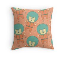 Bearly There in Dreamsickle  Throw Pillow