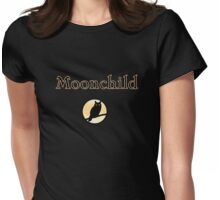 moon-child dark owl Halloween  Womens Fitted T-Shirt