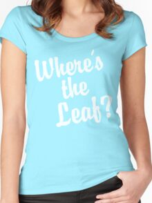 Where's the Leaf? (White Text) Women's Fitted Scoop T-Shirt