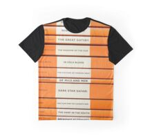 Book Spine Graphic Shirt Graphic T-Shirt