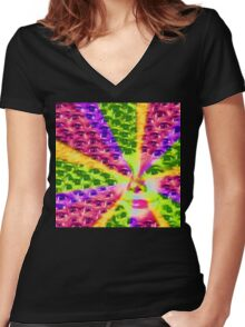Smileyes Women's Fitted V-Neck T-Shirt