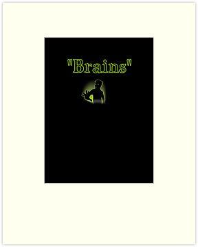 brains zombie funny halloween by tia knight