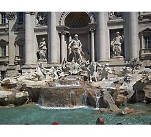 Rome-Trevi fountain Photographic Print