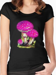 Shrooms Women's Fitted Scoop T-Shirt