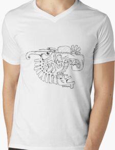 Abstract balck vector animals Mens V-Neck T-Shirt