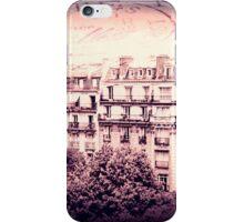 Paris Rooftops in Pink iPhone Case/Skin
