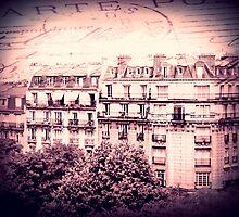 Paris Rooftops in Pink by Linde Stewart