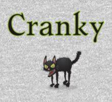 cool cranky black Halloween funny cat Kids Tee