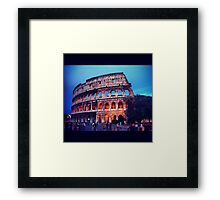 Twilight Colosseum Framed Print