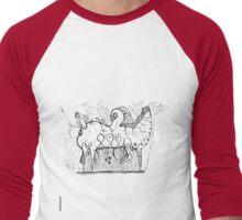 Love is a Devil BW Men's Baseball ¾ T-Shirt