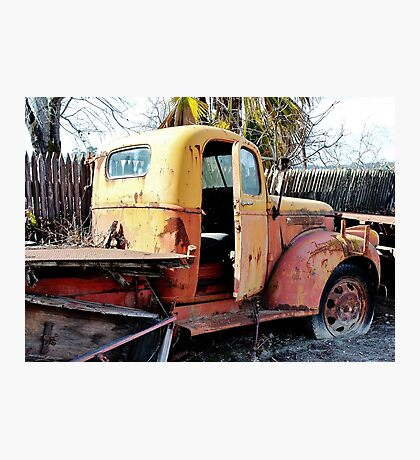 Retired Truck in the Orchard Photographic Print