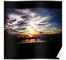Sunset over the Arno Poster