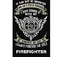 FIREFIGHTER PRIDE Photographic Print