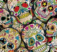 Sugar Skull Collage by spookydooky