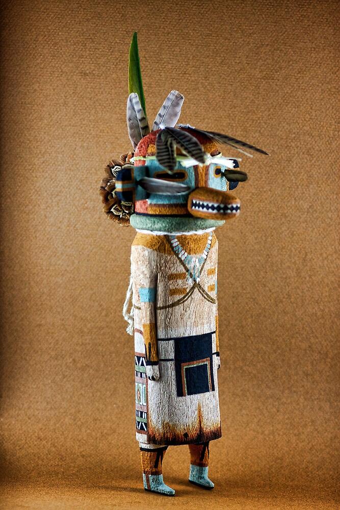 Lizard God Kachina by Carl  Onsae