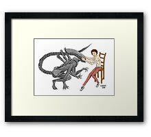 Alien & Sigourney Weaver Framed Print