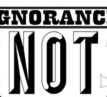 BAN IGNORANCE NOT PIT BULLS 3 Sticker