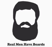 Real Men Have Beards (Black Beard) Kids Clothes