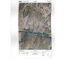 USGS Topo Map Washington State WA Prescott 20110404 TM Poster