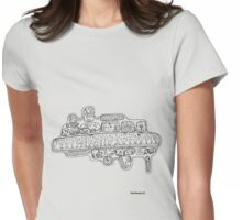 UFO! black & white version Womens Fitted T-Shirt