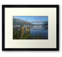 clearing  mist Framed Print