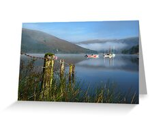 clearing  mist Greeting Card