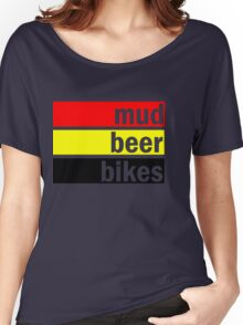 Mud, beer and bikes Women's Relaxed Fit T-Shirt