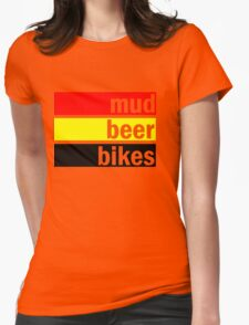 Mud, beer and bikes Womens Fitted T-Shirt