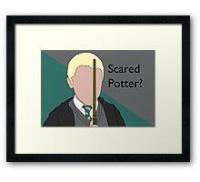 Scared Potter? Framed Print