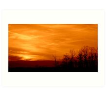 SKY ON FIRE - Monochrome   ^ Art Print