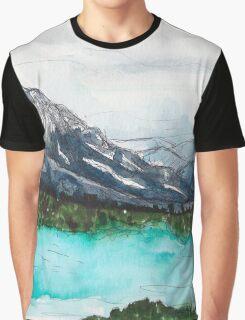 Lake Nature Scene Graphic T-Shirt