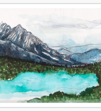 Lake Nature Scene Sticker