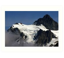 jagged rock and glacial snow Art Print