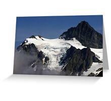 jagged rock and glacial snow Greeting Card