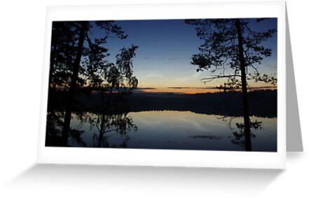 Blue Night on a Finnish Lake by seymourpics