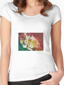 Fun with Flowers Women's Fitted Scoop T-Shirt