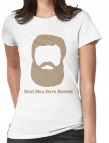 Real Men Have Beards (Brown Beard) Womens Fitted T-Shirt