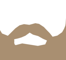 Real Men Have Beards (Brown Beard) Sticker