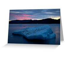 Icebergs Sunset Greeting Card
