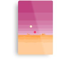 Pixel Tatooine Landscape Metal Print
