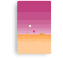 Pixel Tatooine Landscape Canvas Print