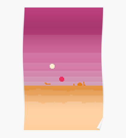 Pixel Tatooine Landscape Poster