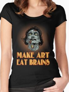 Zombie Dali Says... Women's Fitted Scoop T-Shirt
