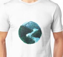 river and mountains illustration Unisex T-Shirt